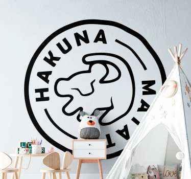 Inšpirovaná nálepka s hollywoodskym filmom leví kráľ vytvorená na okrúhlom pozadí. Predstavuje kresbu roztomilej simby levího kráľa a frázu.