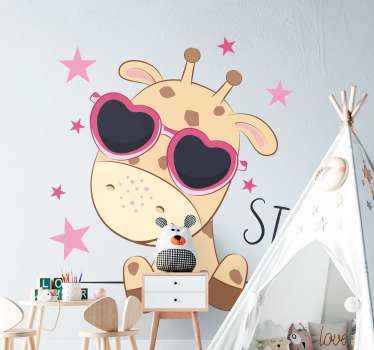 Customized the door space and furniture of your kid in this  cute giraffe door decal. It is really easy to apply and made with high quality vinyl.