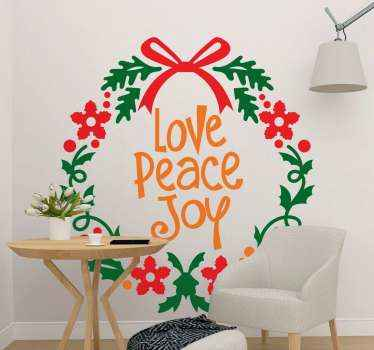 Christmas is a time to share and express love peace and joy. This is why we have made this amazing Christmas ornamental text decoration for your home.