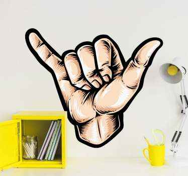Familiar with this symbolic shake hand sign gesture that stands for solidarity and friendship?. Well, you can decorate your space it in our sticker.