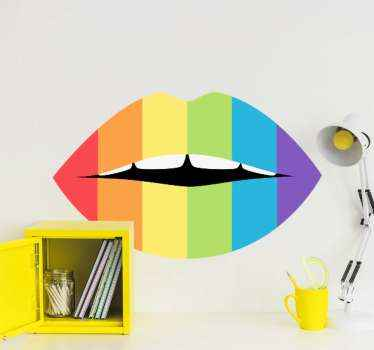 You can decorate this multicolored lip sticker on your laptop, phone, furniture, wall, door, mirror etc.  Available in any size you want.
