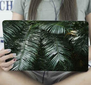 Vous aimeriez sûrement cet incroyable autocollant d'ordinateur portable de palmier vert foncé tropical. C'est original et adhésif.