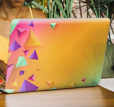 Cool colorful background laptop skins decal. You sure would love this amazing transiting rainbow colour patterned laptop decal. Original and adhesive.