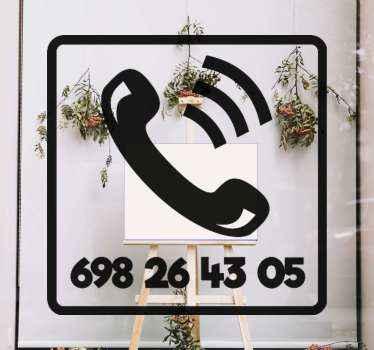 Decoratief persoonlijk telefoonnummer sticker om op de voorkant van het bedrijf te plaatsen om uw bedrijf of nood oproep lijn weer te geven.
