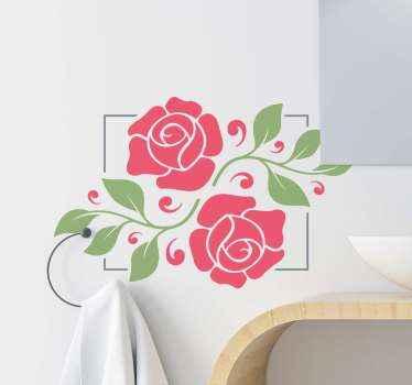 浪漫花朵镜框镜贴纸可美化镜面和玻璃表面!它也可以应用在其他选择的平面上。