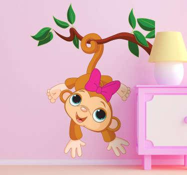 Vinilo infantil changuito monkey