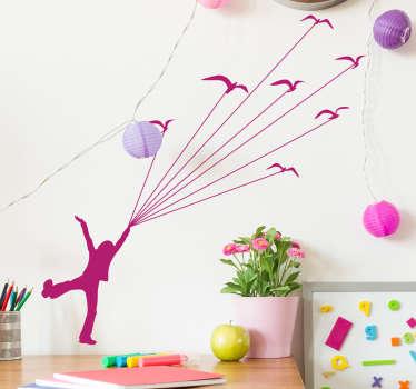 Kids Flying Birds Wall Sticker