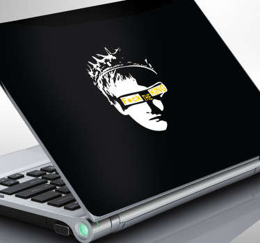 Sticker laptop fuck the king