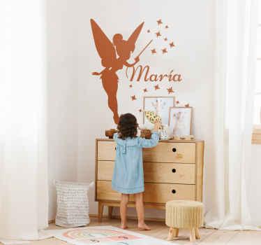 Sticker personnalisé silhouette fée