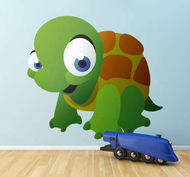Barns sköldpadda vägg klistermärke