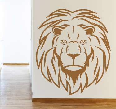 Sticker dessin portrait lion