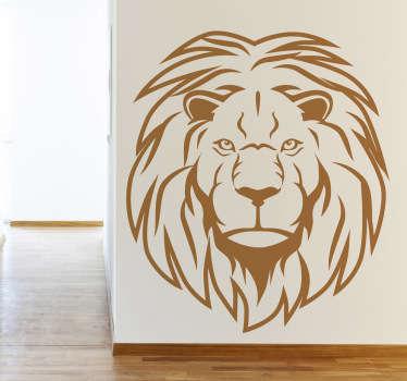 Stencil muro leone primo piano