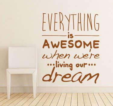 Naklejki żyj marzeniami