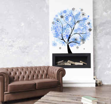Vinil decorativo árvore inverno