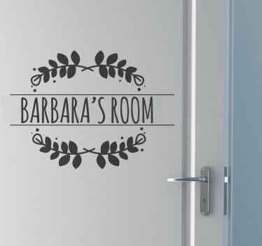 Naklejka personalizowana na drzwi z Twoim imieniem