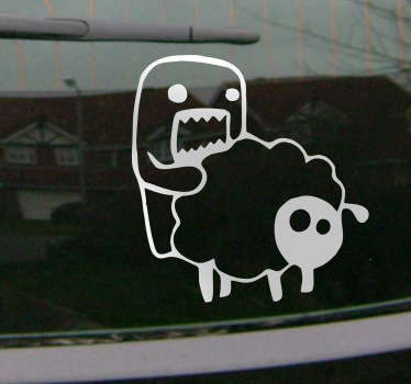 Naklejka dekoracyjna owca i potwór