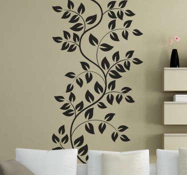 Adhesivo decorativo ramas y hojas