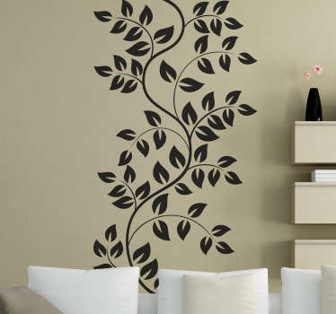 Sticker branche feuilles