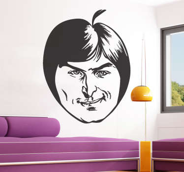 Sticker decorativo mela Steve Jobs
