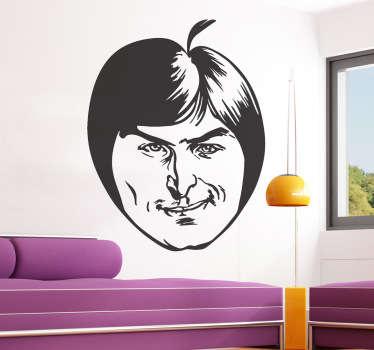 Adhesivo manzana Steve Jobs