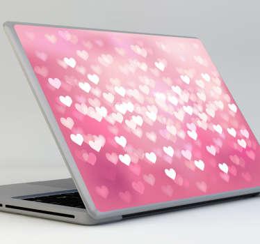 Hearts Theme Laptop Sticker