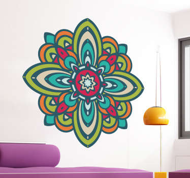 Colourful Mandala Wall Sticker