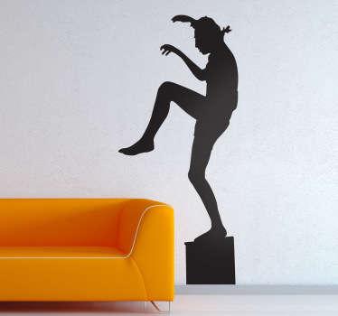 Sticker silhouette coup Karate Kid