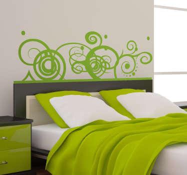 Muursticker hoofdeinde bed abstract
