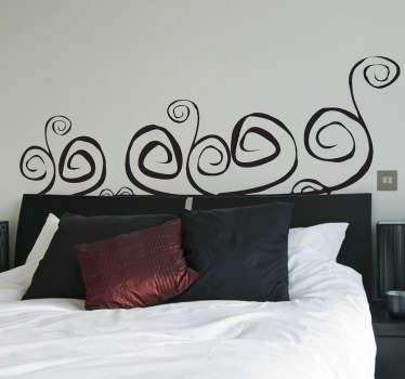 Headboards- Original and distinctive decoration feature above your bed. Abstract themed wall sticker available in 50 colours and various sizes.