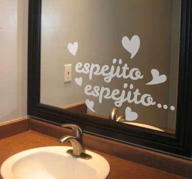 Vinil decorativo espejito Blancanieves