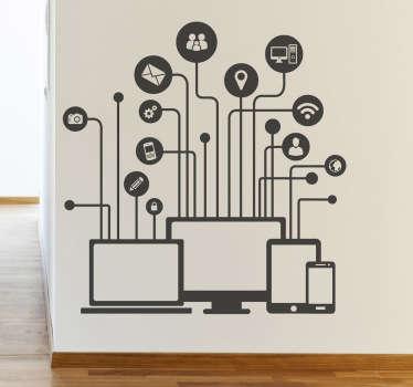 Naklejka elektroniczna sieć