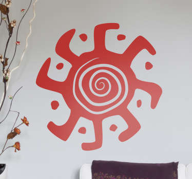 Un kaléidoscope à huit pieds séparés par des points sur un sticker original pour personnaliser votre intérieur.