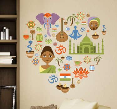 Sticker love Inde