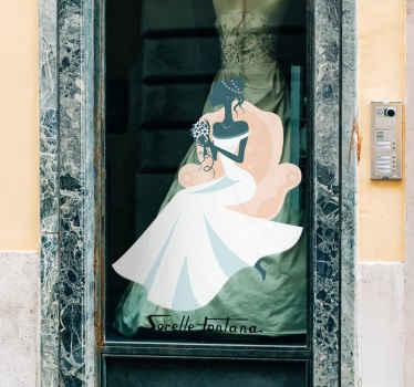 Vinilo decorativo novia sillón