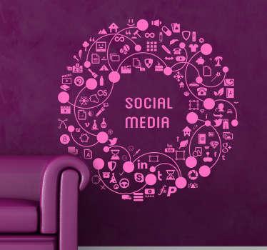 Vinilo decorativo redonda social media