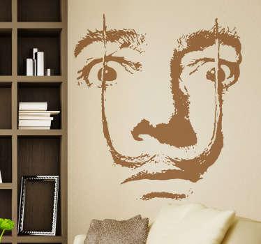 Espectacular representación del genio catalán en adhesivo monocolor realizada por Pierino Gallucci.