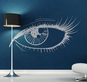 Sticker of a mysterious eye with a great interesting touch to it. Decorate your walls at home with this amazing decal.
