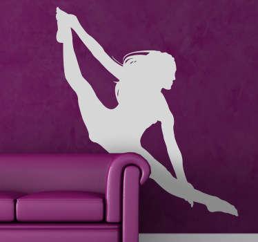 Silhuett akrobat vägg klistermärke