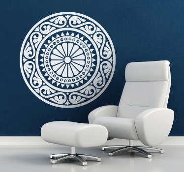 Mandala Decals - A classic mandala wall art sticker. Decorate your home and create a relaxing and mystical feel about the place.