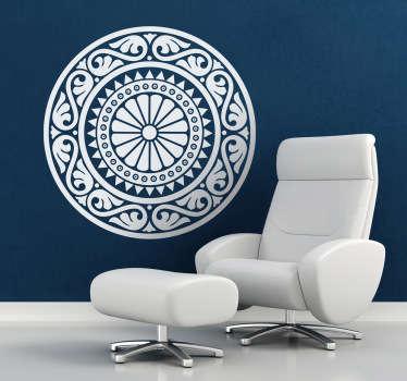 Klasická růžice mandala nálepka na stěnu