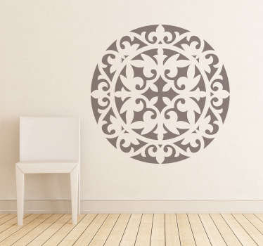 Decals - Classic symmetric illustration. Abstract floral motif. Decorate your home with a touch of colour and give a mystical feel.