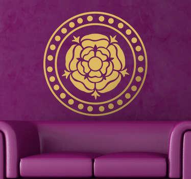 Blumen Wandtattoo Rose im Kreis