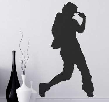 Sticker decorativo silhouette urban dance