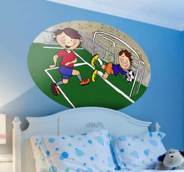 This sweet wall sticker is great for the kids who love football! Decorate your child's room and make them smile!