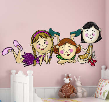 Group of Girls Kids Decal