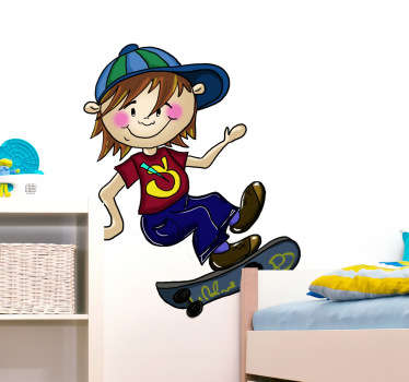 Young Skater Kids Decal