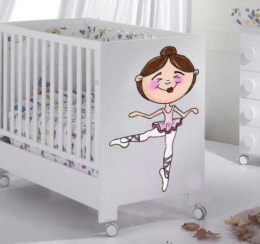 Adesivo cameretta mini ballerina