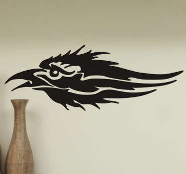 A fantastic wall vinyl decal design of crow to decorate any flat surface. It is self adhesive and easy to apply on flat surface.