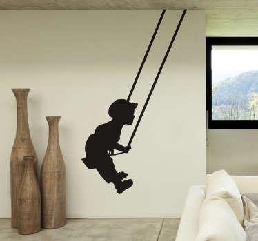 Boy On Swing Decal