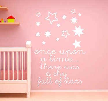 Sticker texte sky full stars